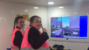 The road safety related motorbike simulator which was very popular with all of the students & staff
