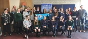 Green-School's Ambassadors from all over Ireland pose for a photograph at the end of the event