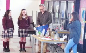 Students got the opportunity to engage in fun, interactive learning activities. Students here are demonstrating  the process of filtration, as waste water is turned into consumable drinking water.