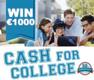 St. Jarlath's Credit Union Cash for College €1000 to be Won