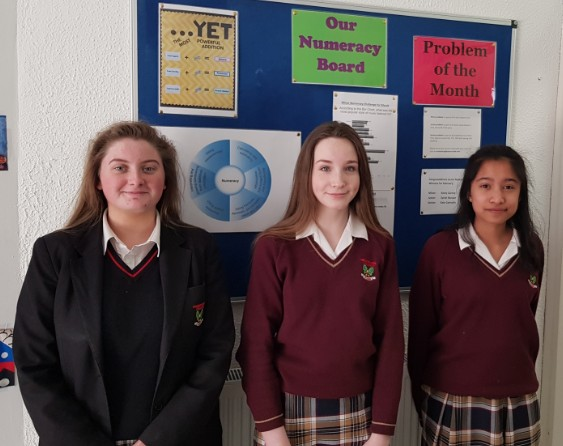 Congratulations to our Numeracy Winners for February Kate Connolly, Keely Carney, Sarah Rozuan