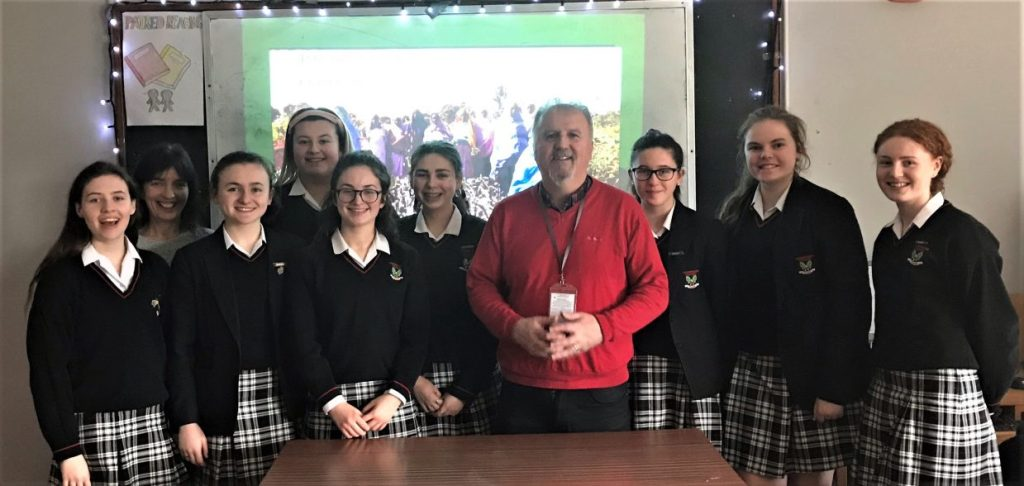 Ronan Scully, from Self Help Africa, visited the school as part of Wellness Week 2019