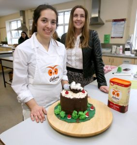 Lora and her teacher Ms Fitzpatrick who supported Lora at the 5th annual Ceist Bake-Off
