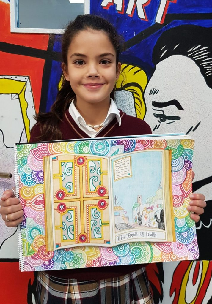 Students entries for the Book of Kells Art Competition