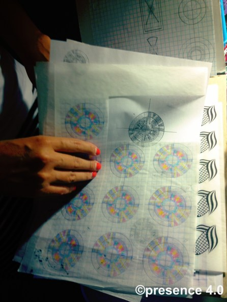 Precision is a skill practiced - Preston's designs in grid formation.