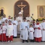 Bendijo obispo capilla reconstruída tras incendio
