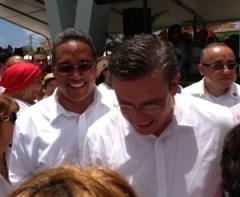 El senador Luis Daniel Rivera junto al gobernador, Alejandro García Padilla. (Foto/Suministrada)