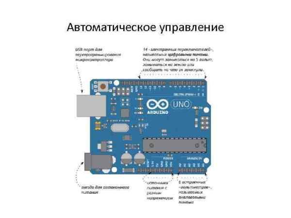 Arduino 1 урок Гидравлическая схема Электрическая