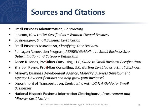 Getting Certified as a Small Business Self-certify or