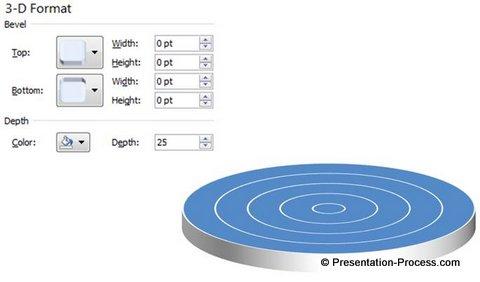 Add 3D Depth to Circular Pyramid