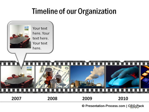 Filmstrip Timeline Template PowerPoint CEO Pack