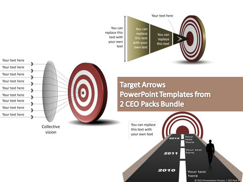Arrows and Targets Examples from PowerPoint CEO pack