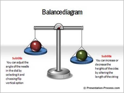 PowerPoint balance 3D diagram