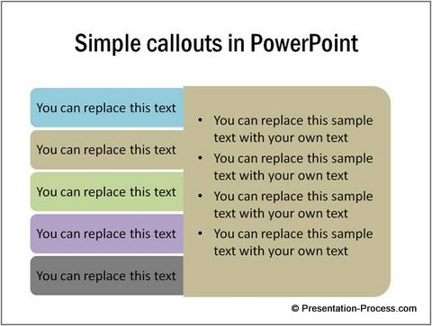 Variation of PowerPoint Callout