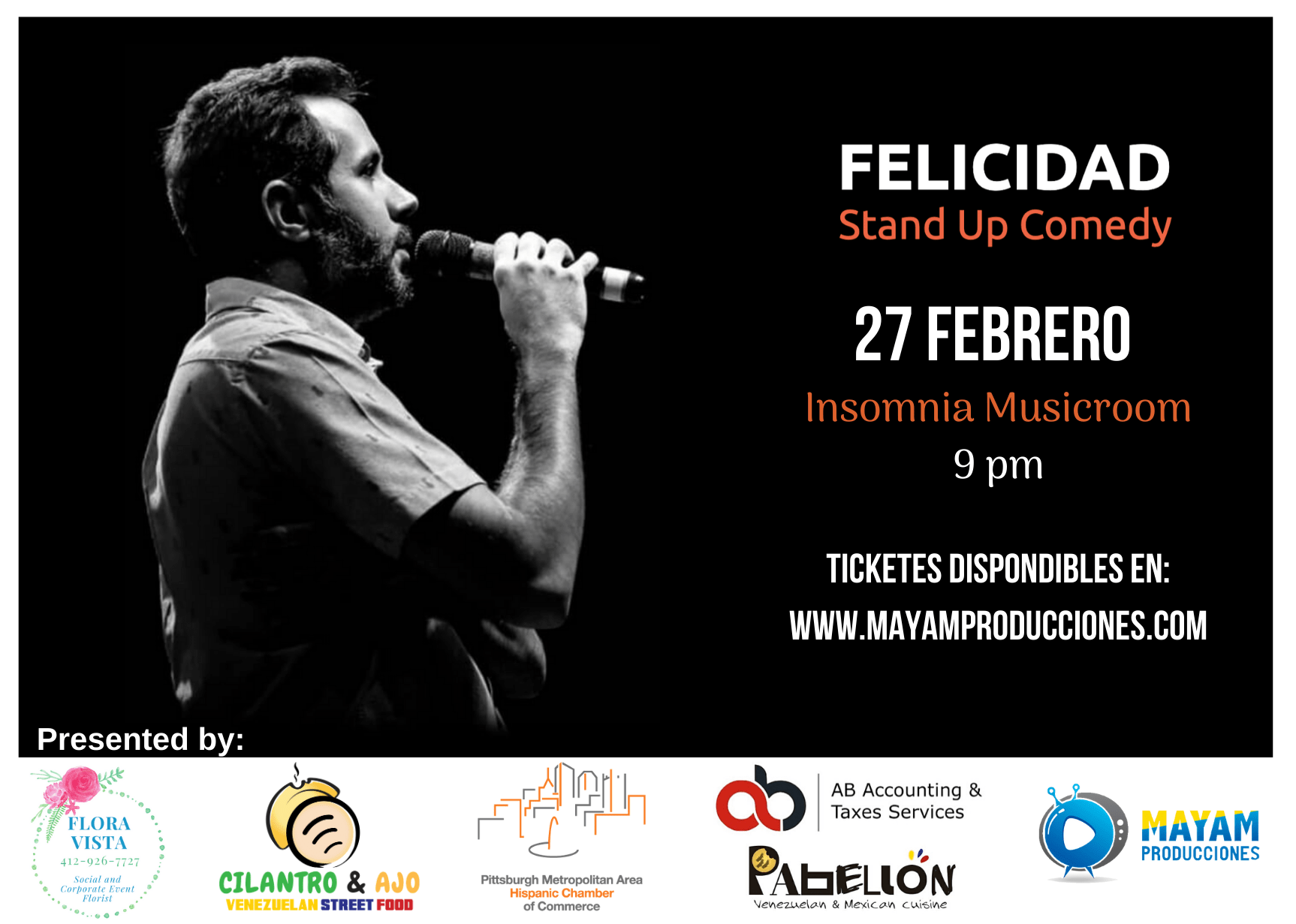 Felicidad – Stand Up Comedy Show (2.27.2020)