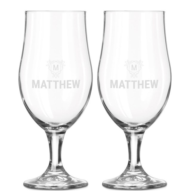 Ölglas graverade med din text eller ditt namn Image
