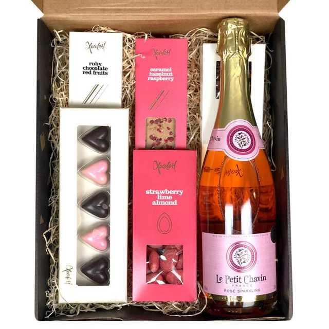 Presentlåda, Bubbel & choklad - LOVE Image
