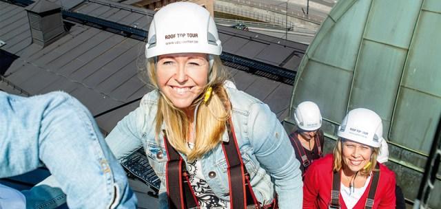 Takvandring i Stockholm - Se ut över Gamla Stan Image
