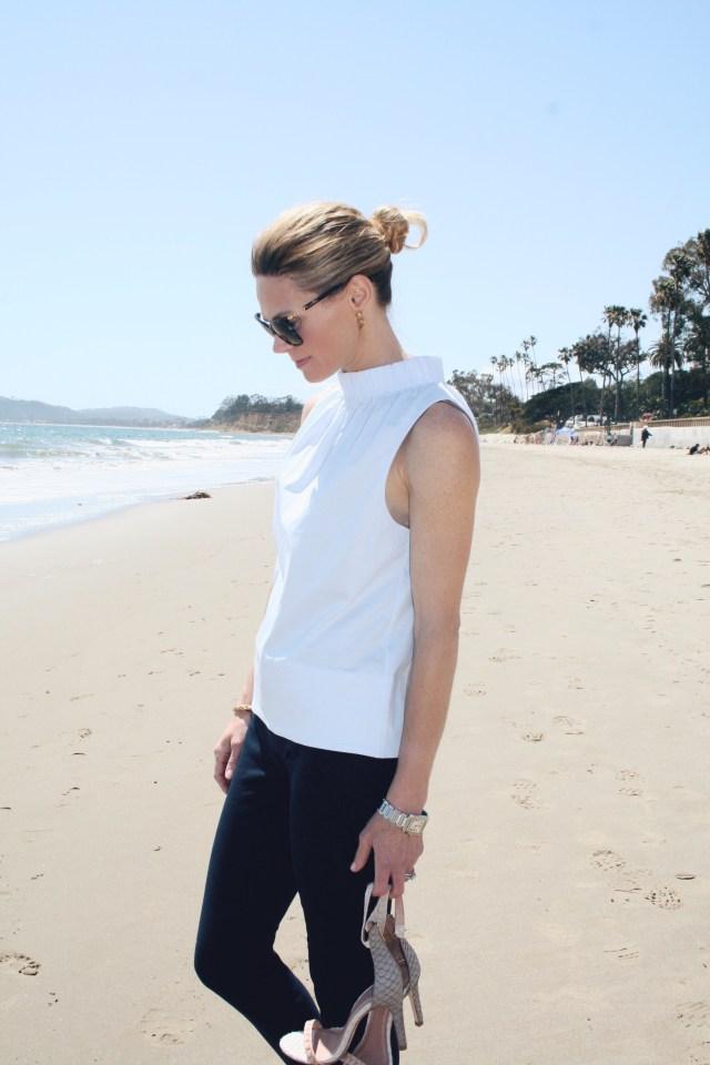sleeveless top and pants beach