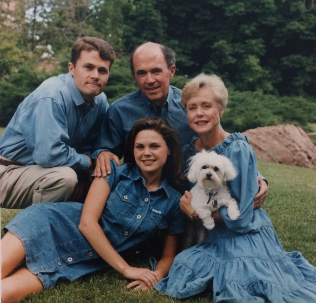 A family photo while I was in college (I'm pretty sure the all-denim ensemble was my idea.)
