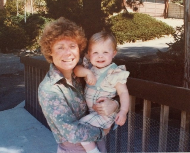 My mom and me at my childhood home in Oakland, California