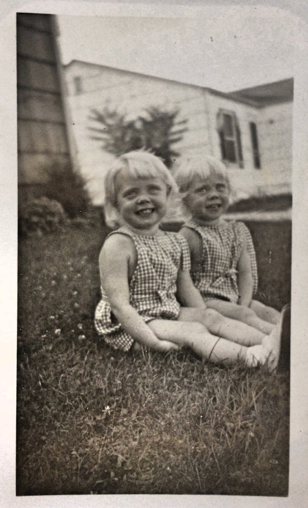 My mom (right) with her twin sister