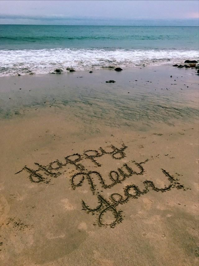 malibu-happy new year-sand