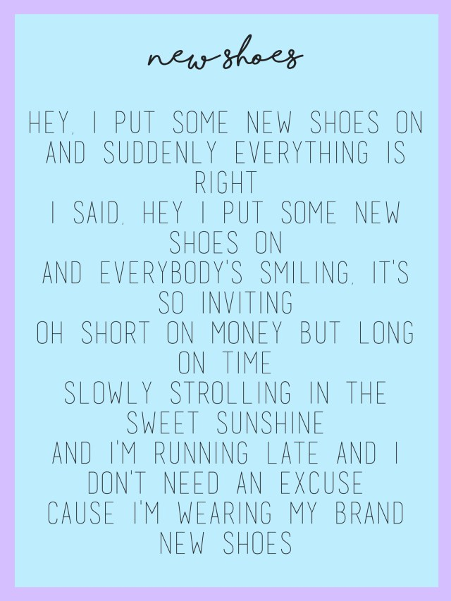 New Shoes Lyrics