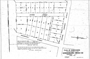 Plan of Greensboro Brick Company