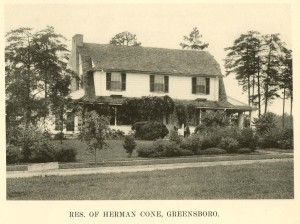 Herman Cone Residence at 1607 Carlisle in 1924