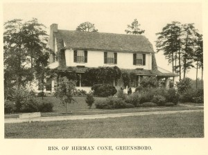 Herman Cone Residence at 1607 Carlisle in 1924