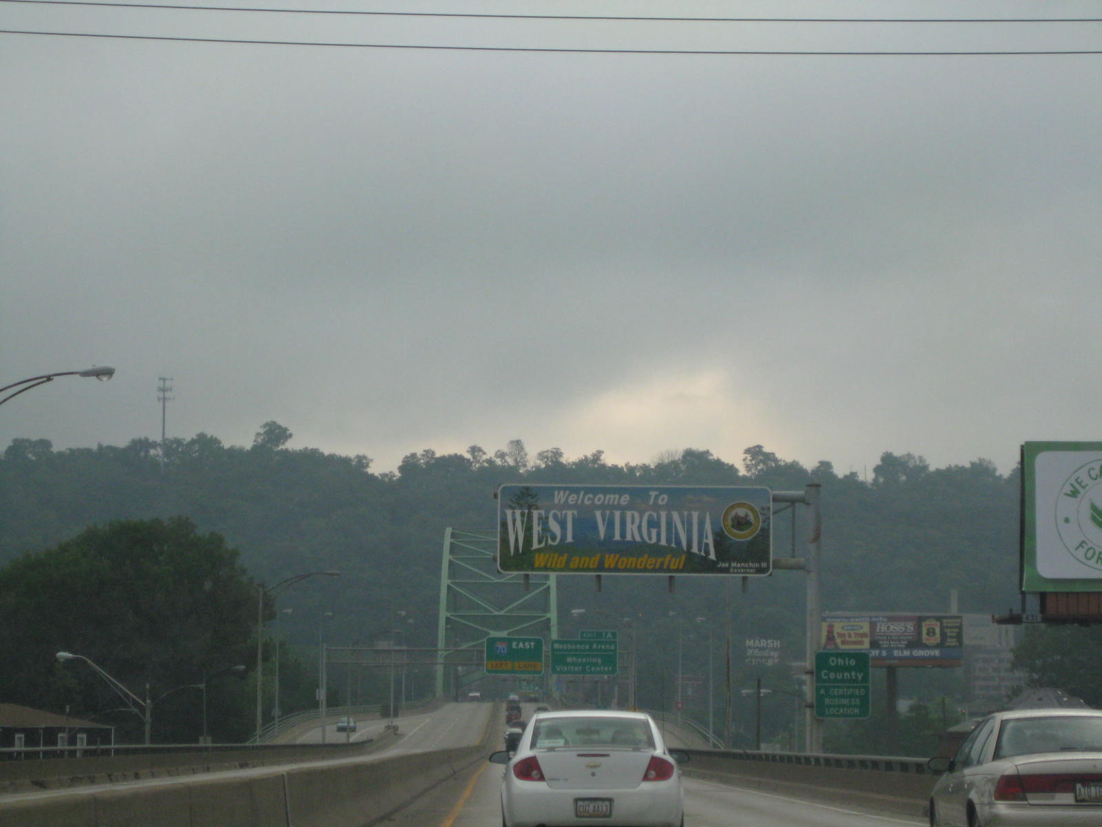 Crossing into West Virginia for a bit.