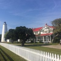 The 1823 Ocracoke Lighthouse and Keeper's house. #presinpink