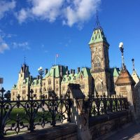 A glimpse of Parliament Hill in Ottawa. #presinpink