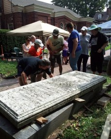 Justus Family-grave restoration-4