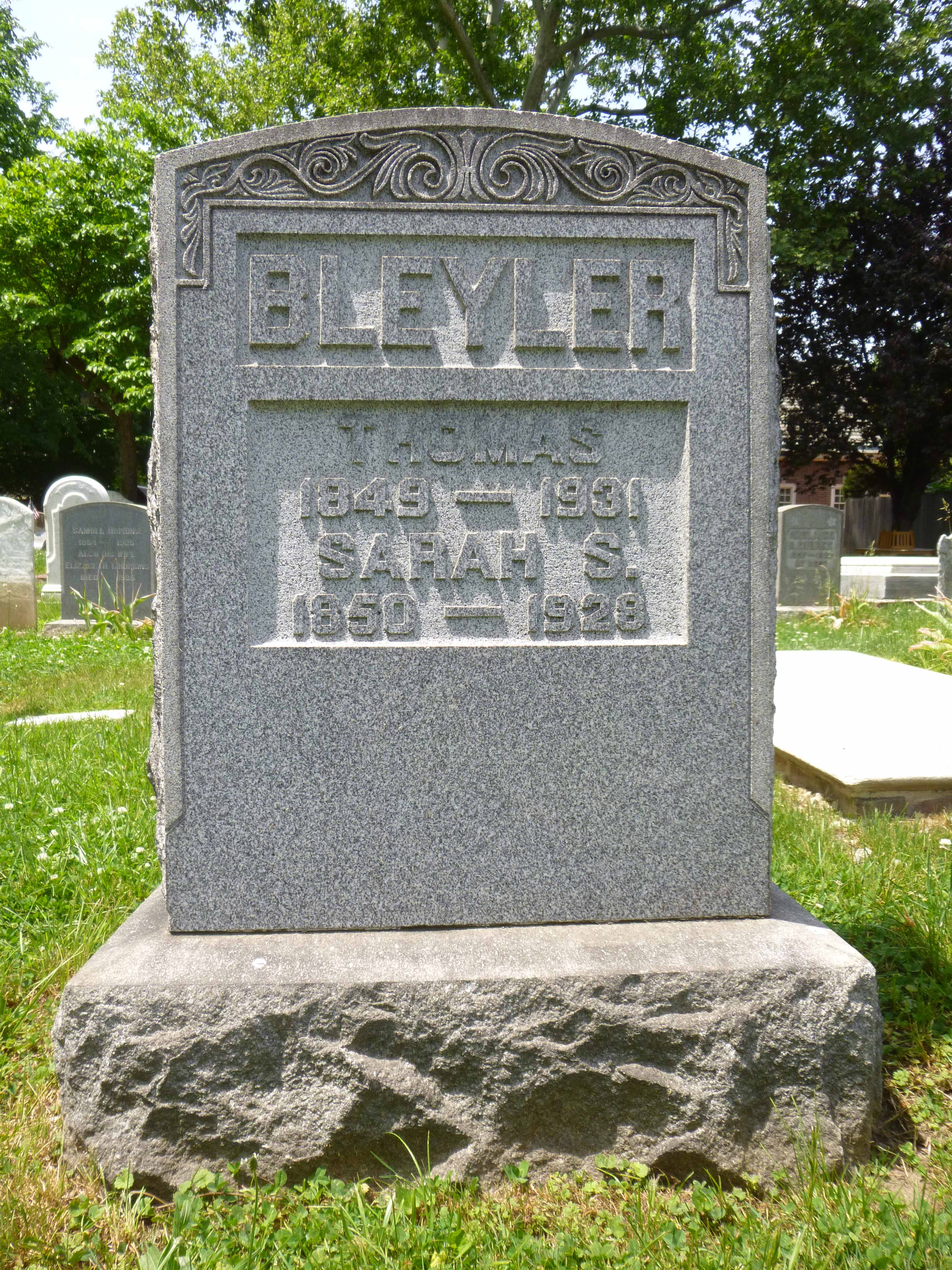 Read more about the article Thomas and Sarah Bleyler
