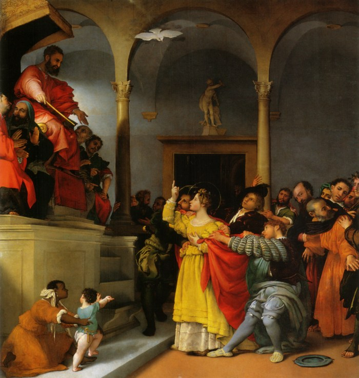 Lucy Before the Judge, Lorenzo Lotto, 1532