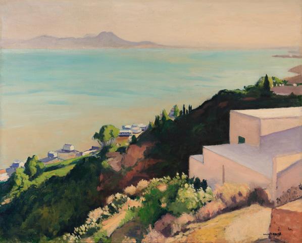Albert Marquet, La plage au soleil couchant, Sidi-bou-Saïd
