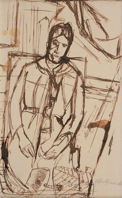 Alberto Giacometti, D'après Cézanne, portrait de Madame Cézanne