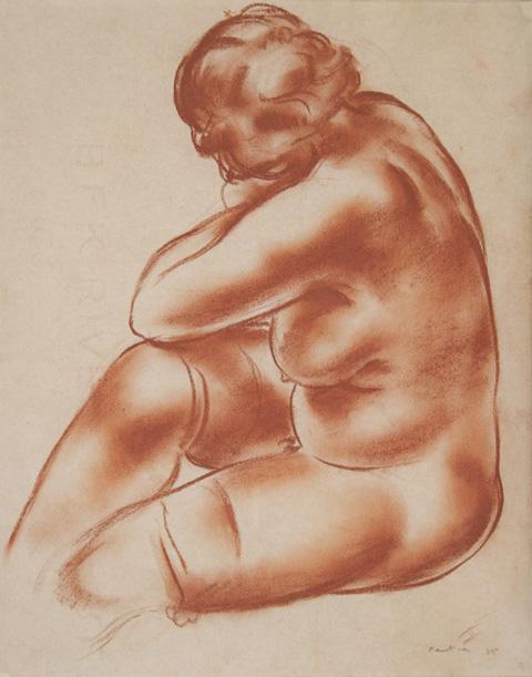 Jean Fautrier, (F4)Femme nue assise