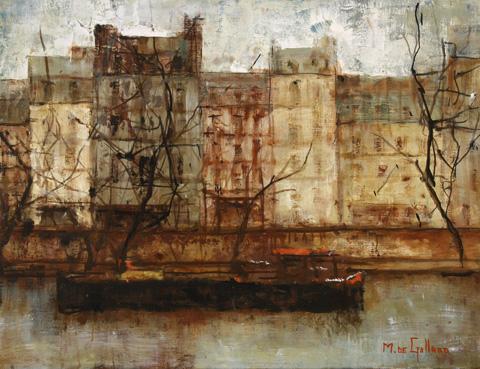 Michel de Gallard, Paris et péniche