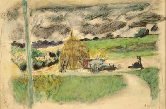 Pierre Bonnard, Paysage près de Vernon