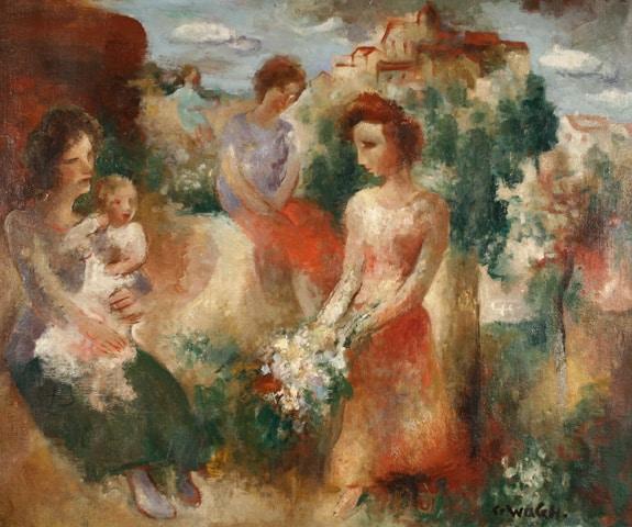 Charles WALCH, 1931, oil on canvas 54 x 65 cm