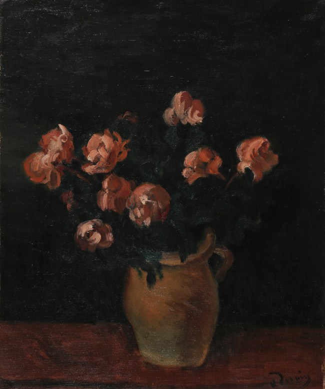 André Derain, Bouquet de fleurs dans un pot, Oil on canvas, 46 x 38 cm