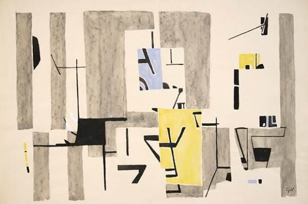 Geer van Velde,I, C. 1951-52, Aquarelle 38 x 56 cm