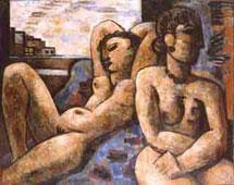 """Exposition """"Marcel Gromaire, huiles sur toiles et œuvres sur papier"""", en 2000, au Pavillon des Antiquaires et des Beaux-Arts, par la Galerie de la Présidence"""
