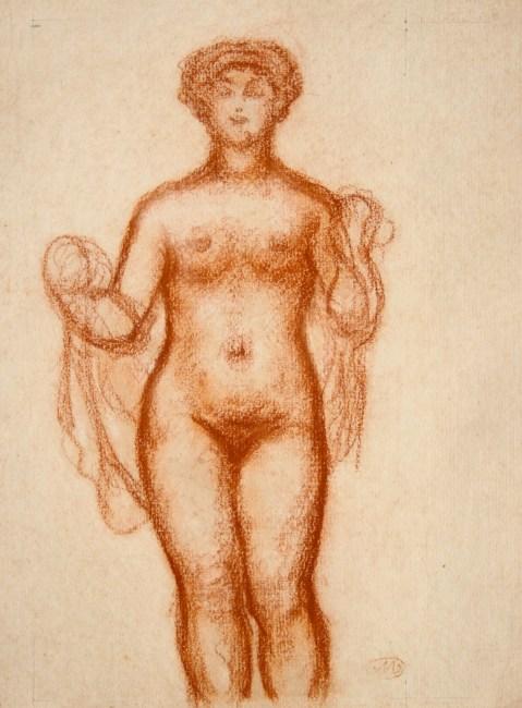 Aristide Maillol, Femme nue au drapé, 31,5 x 23,5 cm