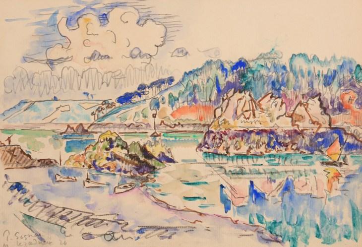 Paul Signac, Lézardrieux, 1924, Watercolour 21,5 x 30,1 cm