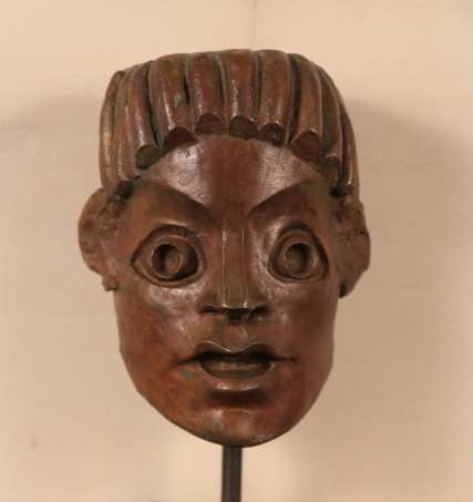 André Derain, L'homme aux cheveux plaqués, n°8_11, bronze, H.21 cm