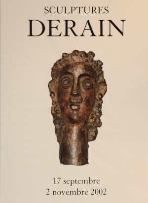 """Poster of the exhibition """"Derain"""" Sculptures 2002 at Galerie de la Présidence in 2002"""